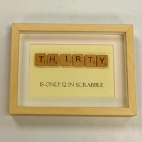 Thirty Scrabble Frame